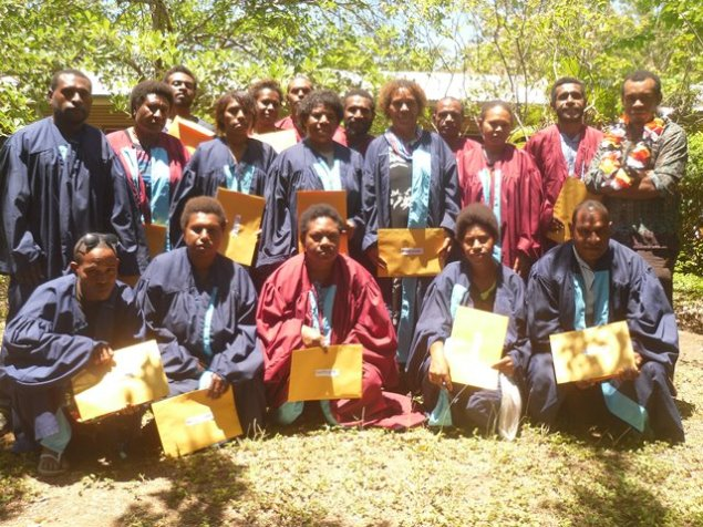 A proud moment and fulfilling year for these Level Four (4) Learners after graduating from the Anglicare Adult Literacy School, 2014. Their next step is to successfully secure spaces in FODE to do further studies. Congratulations to you all for this lifetime achievement.